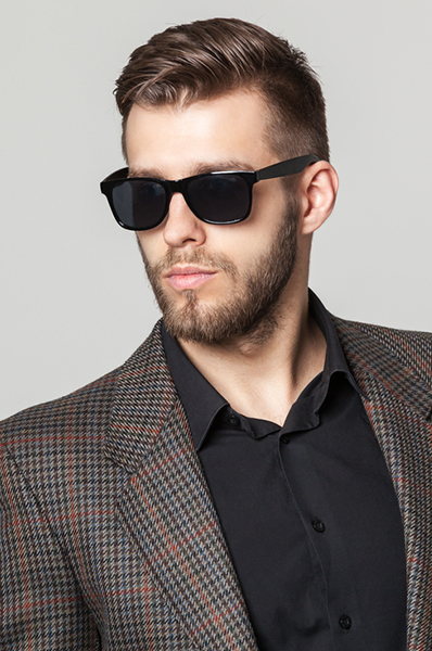 Check Wool Suit Blazer4