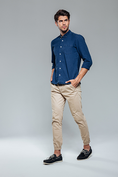 Slim-Fit Patterned Chinos2