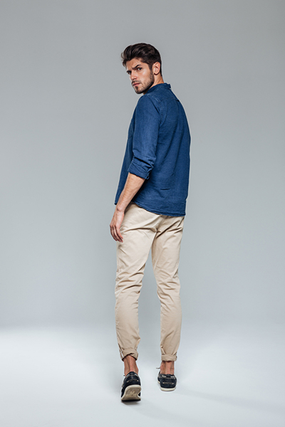 Slim-Fit Patterned Chinos3