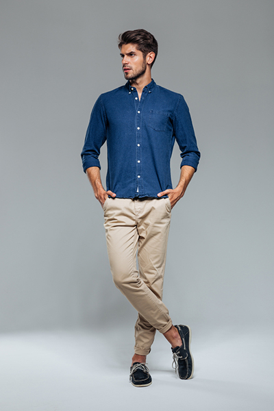 Slim-Fit Patterned Chinos4